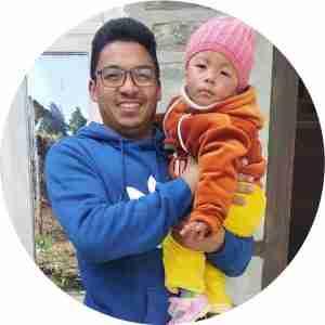 Lok Bahadur Shrestha Krishna Shrestha with Grace round